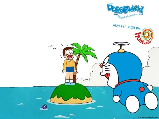Nobita terdampar di pulau