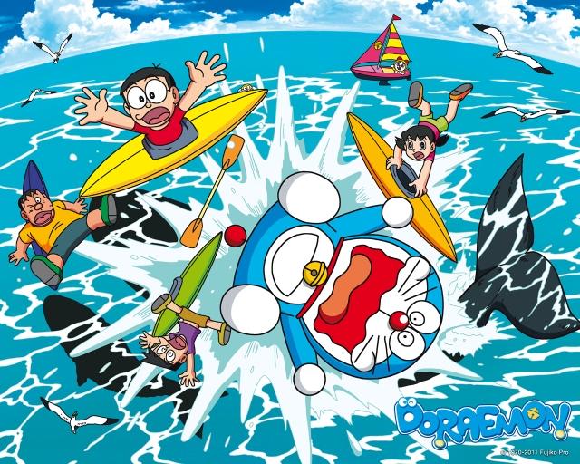 Doraemon di makan hiu